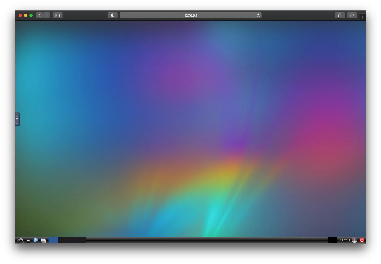 UbuntuのGUI画面をSafariで開いた画面